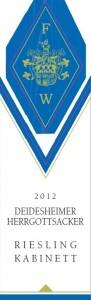 Mosbacher Hof - Deidesheimer Herrgottsacker Riesling Kabinett front label